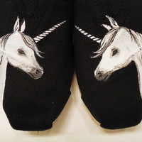 Unicorn TOMS by LamaLand on Etsy