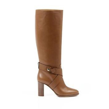 Brown 39.5 EUR - 9.5 US Ralph Lauren Womens High Boot MEARA SPORT CALF RL GOLD