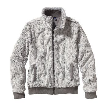 Patagonia Women's Conejo Fleece Bomber Style Jacket | Feather Grey