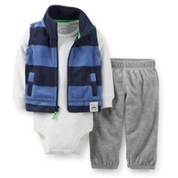 3-Piece Microfleece Vest Set