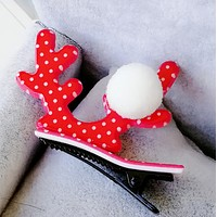 Acrylic Christmas duck duckbill folder cute hair ball baby clip hairpin Christmas gifts Antlers