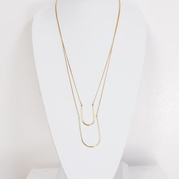 Gold String Layer Necklace