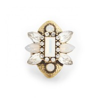 Sole Society Floral Statement Ring