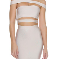 KJ Bandage Dress - Nude