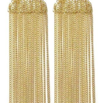 "3.50"" long dangle chain earrings"
