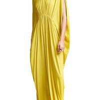 Yellow Maxi Dress In Jersey