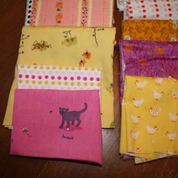 Heather Ross, Scrap bag with munki munki, lightning bugs and other mysteries, all lightweight cotton