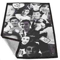 Shawn mendes Black and White Collage for Kids Blanket, Fleece Blanket Cute and Awesome Blanket for your bedding, Blanket fleece *02*