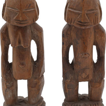 PAIR OF YORUBA TWIN FIGURES, IBIJI