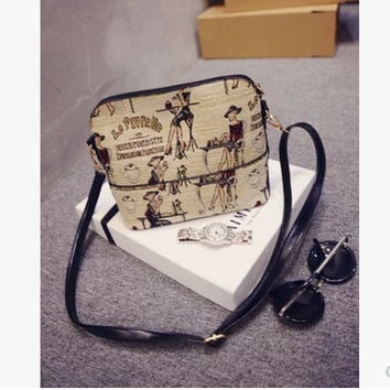 Stylish Korean Strong Character Print One Shoulder Bags [6580918343]