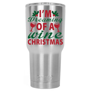 RTIC Im Dreaming of a Wine Christmas 30 oz Tumbler Cup