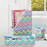 Printed Desk Accessories- Multi Chevron