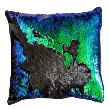 16x16 inches Mermaid Sequin Pillow with Insert-Mermaid