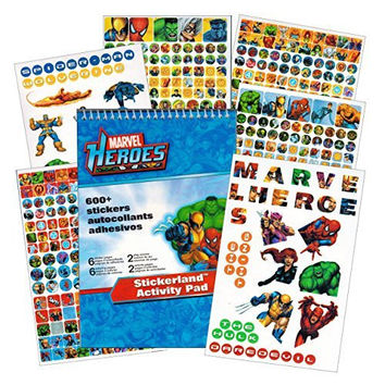 Marvel Heroes Reward Stickers - 375 Stickers - Spider-man, Iron Man, Thor, Hulk, Captain America and more!