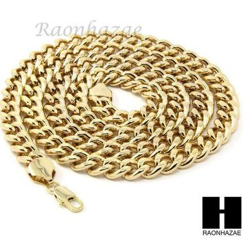 ESBONRC MENS HIP HOP ICED OUT GOLD STAR OF DAVID PENDANT 30' / 36' CUBAN NECKLACE N22