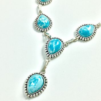Larimar Silver Drop necklace