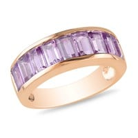 2 1/3 CT TGW Amethyst Fashion Ring  Pink Silver Pink Plated