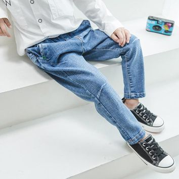 Spring Autumn New Cool Jeans Boys Children Baby Old Pants Denim Pants Tide 2-7 Ages Free Shipping Loose Straight Casual Solid