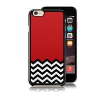 Red Black & White Welcome To Twin Peaks phone case fits for iPhone 4/4S 5/5S 5C 6S plus, artwork by TULLUN DESIGS