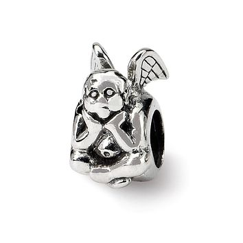 Sterling Silver Angel Thinking Bead Charm