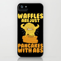 Waffles are like pancakes iPhone & iPod Case by LookHUMAN