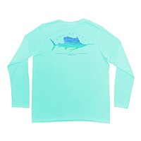 Sailfish Scribble Pro UVX Performance Shirt in Mint by Guy Harvey - FINAL SALE