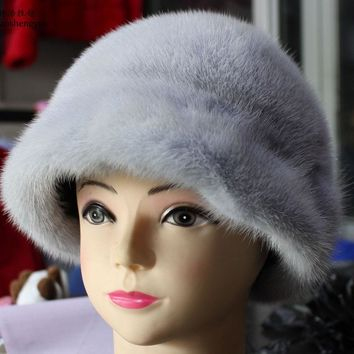 Linhaoshengyue The true nature of mink fur Princess Hat
