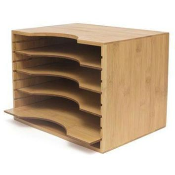 ONETOW Bamboo File Organizer W4 Dvdrs