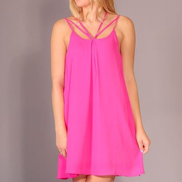 Coastline Dress - Hot Pink