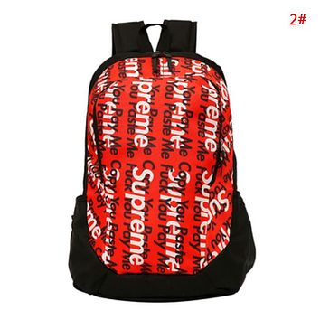 Supreme & The North Face Fashion New Letter Graffiti Print Women Men Travel Leisure Backpack Bag 2#