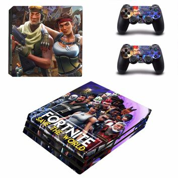 Game Fortnite PS4 Pro Skin Sticker Decal For Sony PS4 PlayStation 4 Pro Console and 2 Controllers PS4 Pro Skins Stickers Vinyl
