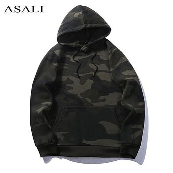 Camo Hoodies Men Army Green Pocket Military Hooded Sweatshirt Mens Camouflage Autumn 2017 Pullovers Casual Unisex Fleece Hoodie