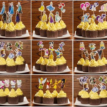 designs Princess,Sophia,Cupcake Toppers Picks,Theme birthday/wedding party decorations,evnent party favors