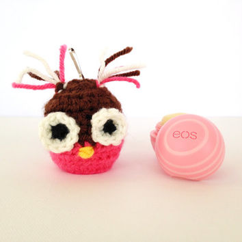 EOS Lip Balm Cozy/Holder - Owl Buddy - with Clip