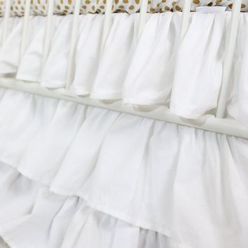 Waterfall Ruffle 3 Tier Skirt | White Cloud Nursery
