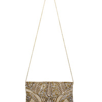 Rani Pearl and Gold Beaded Clutch | Womens Accessories | AKIRA
