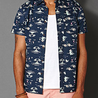 Alligator Print Shirt Navy