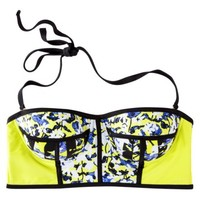 Peter Pilotto® for Target® Bikini Top -Green Floral Print
