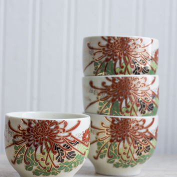 Vintage Japanese Saki or Tea Cups - 1960's Asian Home