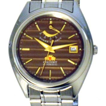 Orient CFD00002T Men's Brown Dial SS Automatic Watch with Power Reserve
