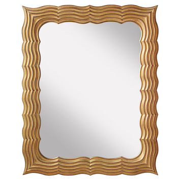 Mirrors, Lavine Oversize Mirror, Antiqued Gold, Wall Mirrors