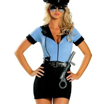 Police Halloween Costume Sexy Cop Outfit Woman Cosplay Lingerie Police