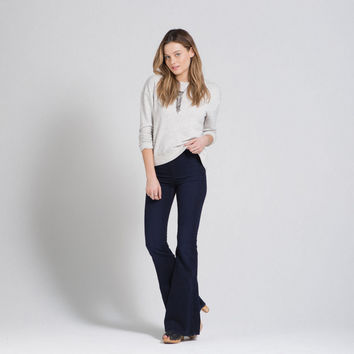 A&F Natural Waist Flare Jeans