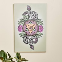 **Eye Pyramid Snake Canvas Art**