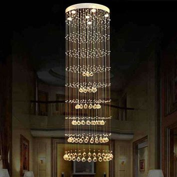 Modern Crystal Chandelier Lighting  for Living Room in The Floor with LED Source Ceiling Lamp Fixtures VALLKIN
