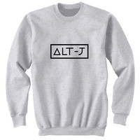 alt j sweater Gray Sweatshirt Crewneck Men or Women for Unisex Size with variant colour