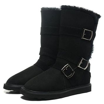 UGG Women Fur Leather Boots Half Boots Shoes