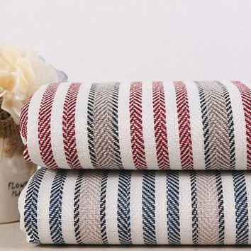 Striation Emulational Linen Fabric Cloth For Curtains Sofa Bags Tablecloths Cover