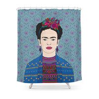 Society6 Frida Kahlo Shower Curtains