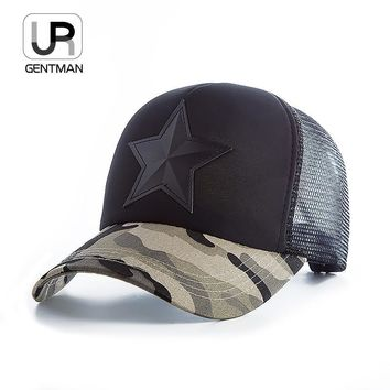 Trendy Winter Jacket [URGENTMAN] New 3D Five-pointed Star Embroidery Mesh Baseball Cap Summer Snapback Camouflage Hat Cap For Men & Women Leisure Cap AT_92_12
